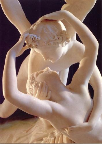 amore and psyche. the soft light of Psyche