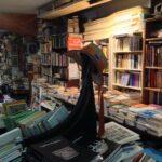libreria acqua alta - venice book store with gondola