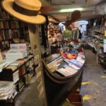libreria acqua alta - venice book store with gondola