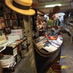 libreria acqua alta - venice book store fire exit gondola
