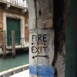 libreria acqua alta - venice book store fire exit