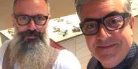 marco and antonio in barber shop treviso