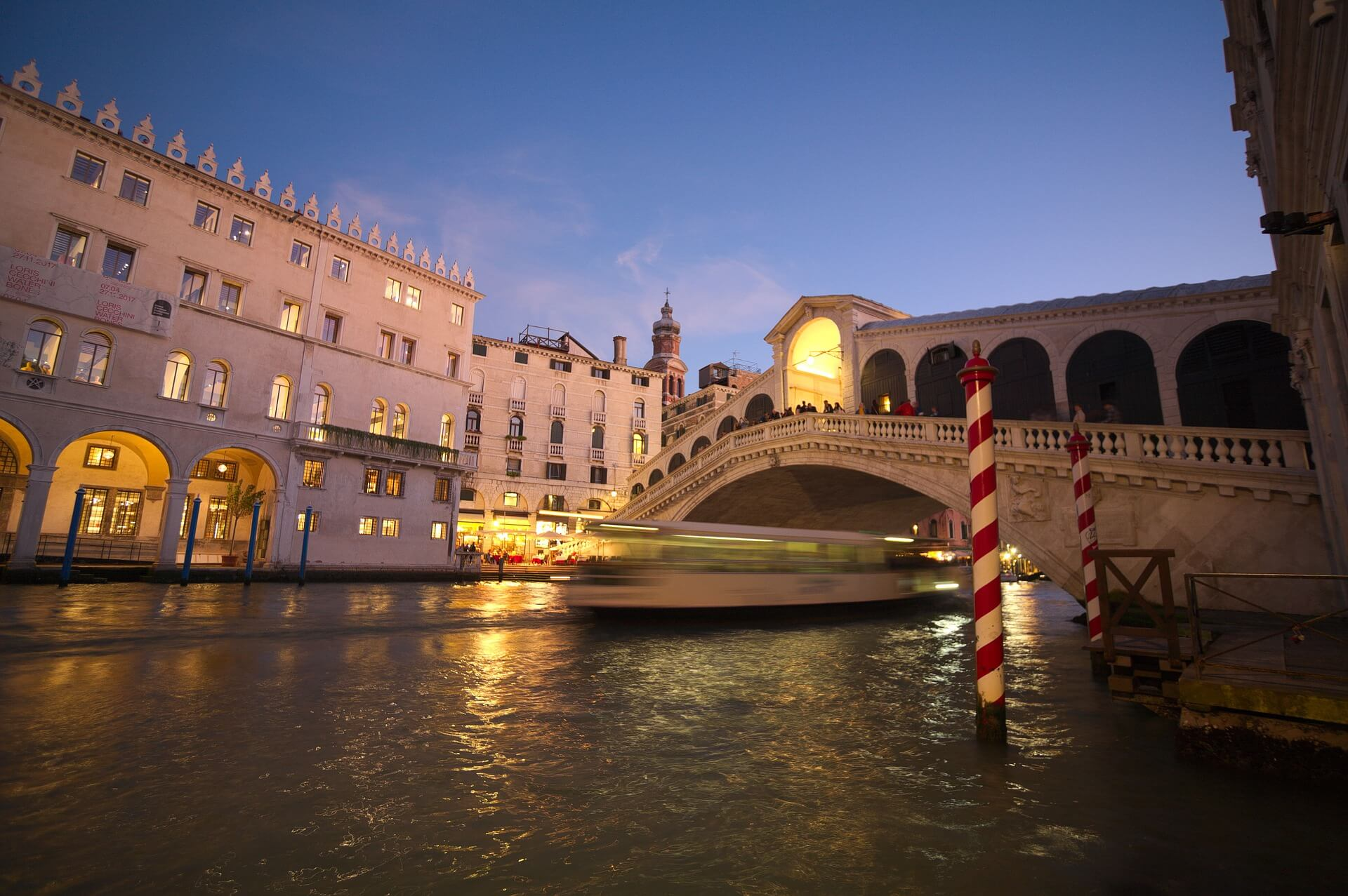 rialto bridge sunset