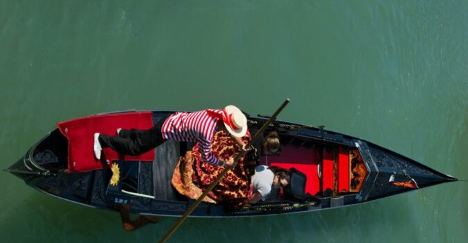venice gondola by marco secchi