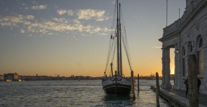 venice punta dogana sunset