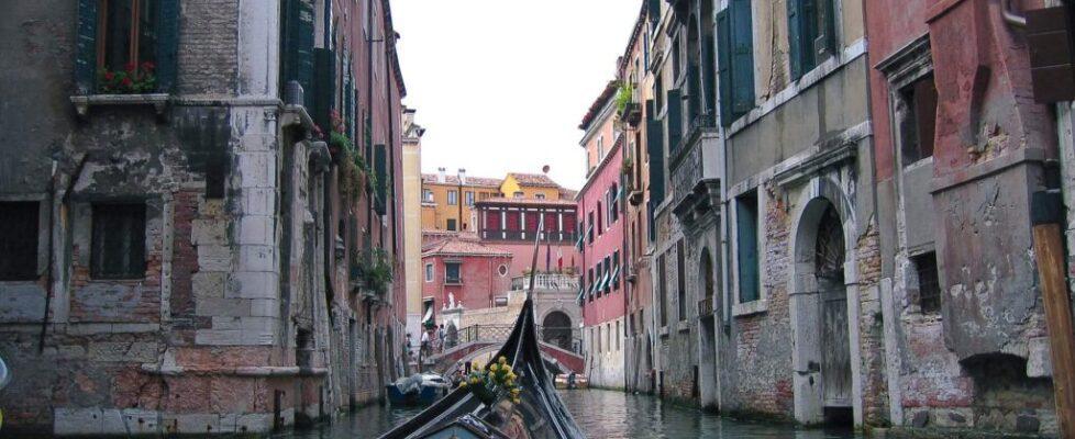 venice gondola view