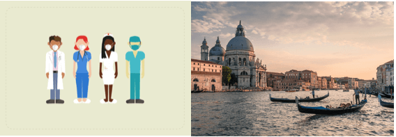 free 1 hr tour for covid doctors in venice inlay